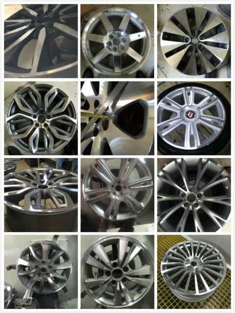 alloy wheel repair machine
