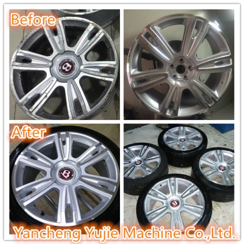 repairing diamond cut alloy wheels